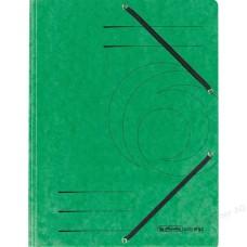 D01-073 Aplankas A4 kartoninis su guma žalias 10843894 HERLITZ
