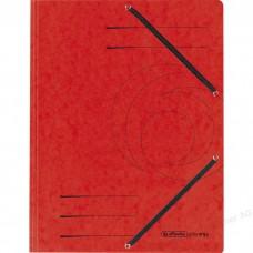 D01-074 Aplankas A4 kartoninis su guma raudonas 10843902 HERLITZ