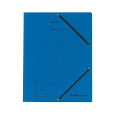 D01-075 Aplankas A4 kartoninis su guma mėlynas 10843910 HERLITZ