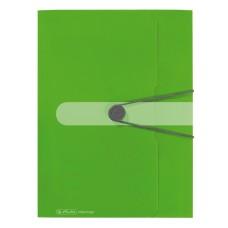 D04-109 Aplankas su guma A4 žalias 11206000 HERLITZ