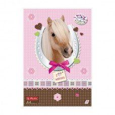 D04-185 Aplankas, A4, 4cm, su guma, Pretty Pets Horse, 1127472, HERLITZ