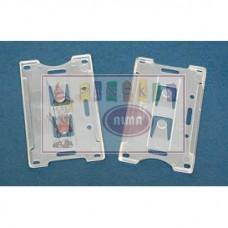 D07-027 Vardinių kortelių dėklas 40001, 54x86mm skaidrus 10 vnt