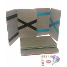 D07-196 Pilkas kort.dėklas su juost.(juoda)7x10.5cm 97507101 JAGUAR