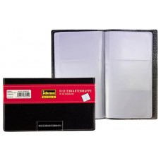 D07-501 Dėklas vizitinėms kortelėms 144vnt juodas 567042 IDENA