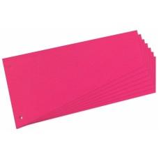 D08-0117 Skirtukai 120x230mm 100vnt rožiniai 10837565 HERLITZ.