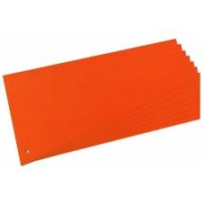 D08-0118 Skirtukai 120x230mm 100vnt oranžiniai 10838498 HERLITZ