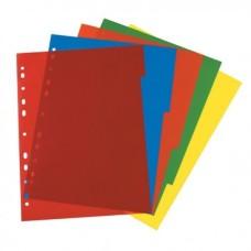D08-100 Skirtukai, 5 spalvų, plastikiniai, 05950407, HERLITZ
