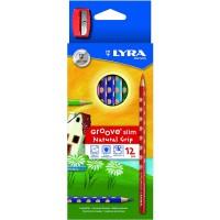 Pieštukai 12sp  GROOVE SLIM+drožtukas L2821120 FILA/LYRA, R06-081