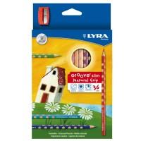 Pieštukai 36sp  GROOVE SLIM+drožtukas L2821360 FILA/LYRA, R06-713