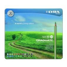 L2871240 FILA/LYRA Pieštukai GRADUATE PERMANENT 24sp met.dėž R06-754