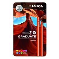 L6771100 FILA/LYRA Rašikliai GRADUATE 10vnt 0.5mm met.dėž R01-696