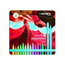 L6771150 FILA/LYRA Rašikliai GRADUATE FRESH 15 vnt 0.5mm met.dėž R01-697