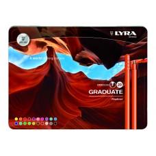 L6771200 FILA/LYRA Rašiklis GRADUATE WARM 20sp 0.5mm met.dėž R01-699