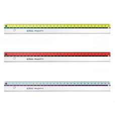M04-003 Liniuotė 30cm spalvotu krašteliu 11367992 HERLITZ