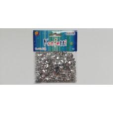 Blizgučiai konfeti ŽVAIGŽDĖS 14g sidabriniai MT-4195 ALIGA, M09-565