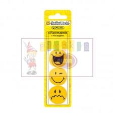 P05-033 Magnetai lentai 24mm 6vnt. SmileyWorld 11299245 HERLITZ