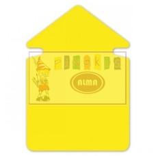 P10-303 Popierinė rodyklė 24cm 300g/m 20vnt geltona 667911 FOLIA