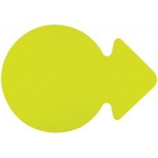 P10-306 Popierinė rodyklė 23cm 300g/m 20vnt geltona 668911 FOLIA