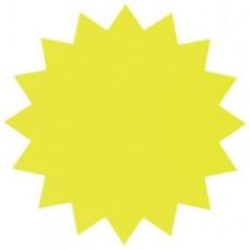 P10-309 Popierinė žvaigždė 18cm 300g/m 20vnt. geltona 671911 FOL