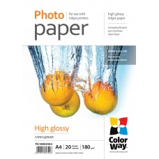 PG180020A4 COLOR WAY Foto popierius A4 20l 180g GLOSSY, B17-720