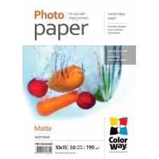 PM1900504R COLOR WAY Foto popierius 10x15 50l 190g MATTE, B17-718