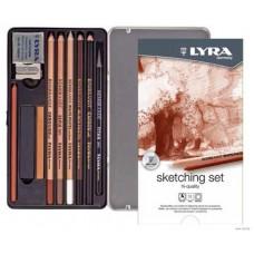 R05-0363 Pieštukų rinkinys SKETCHING 11vnt. L2041110 LYRA/FILA