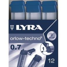 R05-100 Šerdelės automatiniam pieštukui 0.7 H 5002111 LYRA/FILA