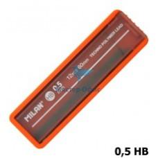 R05-1091 Šerdelės automatiniam pieštukui 0.5 HB 12vnt 1851070512 MILAN