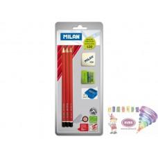 R05-919 Rinkinys 3vnt pieštukų+trintukas+drožtukas BYM10016 MILA