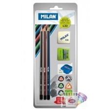 R05-920 Rinkinys 3vnt pieštukų+trintukas+drožtukas BYM10290 MILA