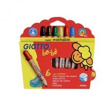 R06-058 Pieštukai 6sp. GIOTTO BE-BE 466400 FILA/LYRA