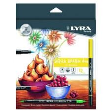 R07-003 Flomasteriai dvipusiai 12sp AQUA L6521120 LYRA/FILA