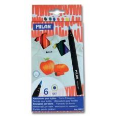 R07-125 Flomasteriai 6sp TEXTILE 06P6T MILAN/6