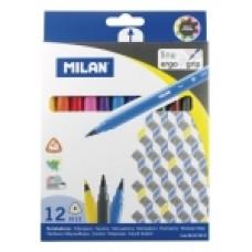 R07-164 Tribriauniai flomasteriai 12sp 06121212 MILAN