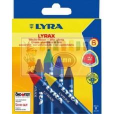 R08-013 Vaško kreidelių 6sp 57010606sp. WAX-GIGANT LYRA