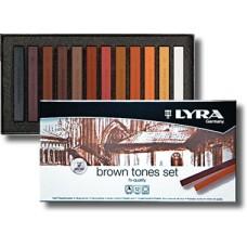 R08-128 Pastelė 12sp BROW TONES L5641121 LYRA/FILA