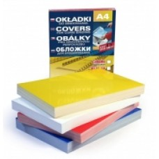 T05-304 Įrišimo viršeliai, nugarėlės, geltoni, Prestige Color, A4, 200mic