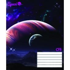 B01-191 Sąsiuvinis A5 18l langeliais SPACE 23003 PAPIRUS