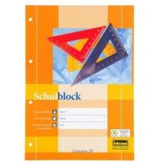 B03-077 Bloknotas su perforacija  A4 50l 70g langeliais 217025 IDENA