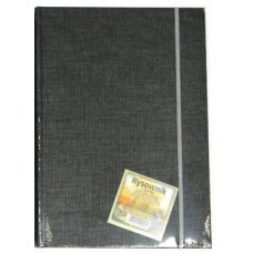 101535 KRESKA Albumas eskizams su guma A4 80l 150g/m juodas B04-492