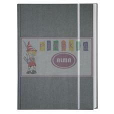 B04-494 Albumas eskizams su guma A4 80l 150g/m pilkas 101542 KRESKA