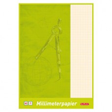 B06-077 Milimetrinis popierius, A3, 20 lapų, 00690305 HERLITZ