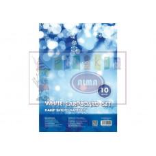 B06-094 Kartonas A5 10l 230g/m baltas 21001 PAPIRUS