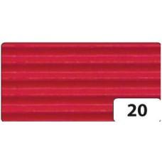 B06-475 Gofruotas kartonas 50x70cm raudonas 741020 FOLIA