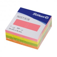 B11-072 Lapelių lipnių kubas, 76x76mm, 320vnt, spalvoti, 0020028 PELIKAN