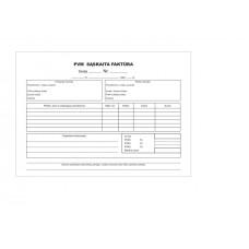 PVM sąskaitos-faktūros A5x2sl be nr savek A5x2x50 B15-816