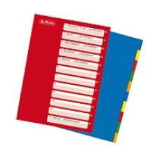 D08-102 Skirtukai 10sp plastikiniai 10715415 HERLITZ/25