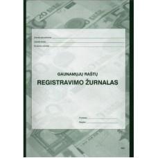 Gaunamų dokumentų registravimo žurnalas A4 40l 0305, B15-820
