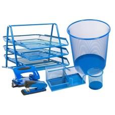 P02-100 Metalinis, darbo stalo rinkinys, 6 dalių, tamsiai mėlynas, 110082, LEVIATAN