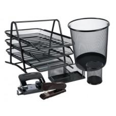 P02-103 Metalinis darbo stalo rinkinys 6 dalių juodas110161LEVIATAN